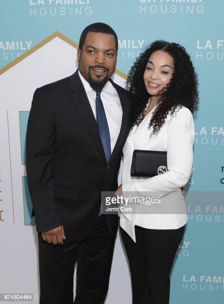 Ice Cube and wife Kim jackson attend the LA Family Housing 2017 Awards at The Lot on April 27, 2017 in West Hollywood, California.