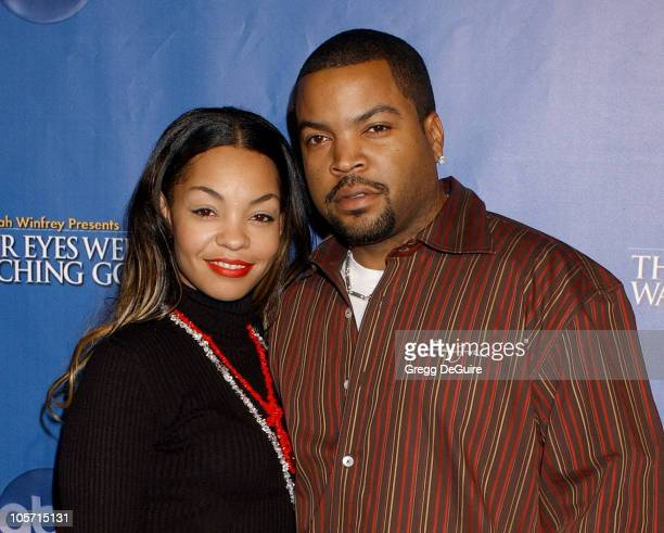 Ice Cube and wife Kim Jackson during Their Eyes Were Watching God Los Angeles Premiere Arrivals at El Capitan Theatre in Hollywood California United...