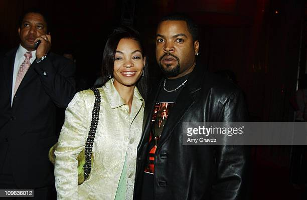 Ice Cube and wife Kim Jackson during XXX State of the Union Los Angeles Premiere After Party at Westwood Village in Westwood California United States