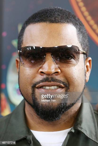 "Ice Cube arrives at the Los Angeles premiere of ""Book Of Life"" held at Regal Cinemas L.A. Live on October 12, 2014 in Los Angeles, California."