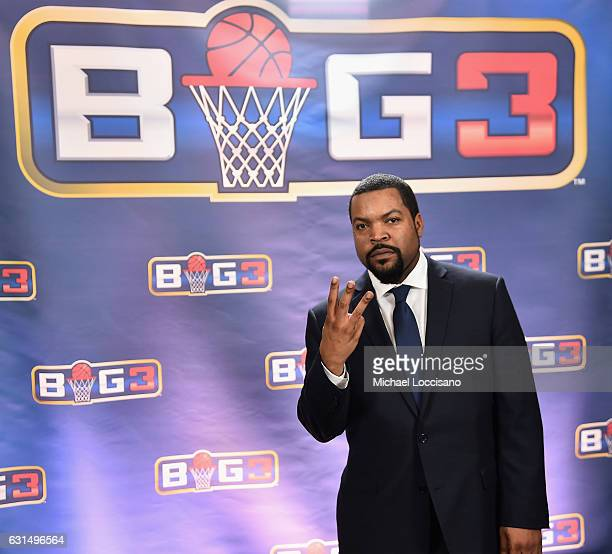 Ice Cube attends a press conference announcing the launch of the BIG3 a new professional 3on3 basketball league on January 11 2017 in New York City