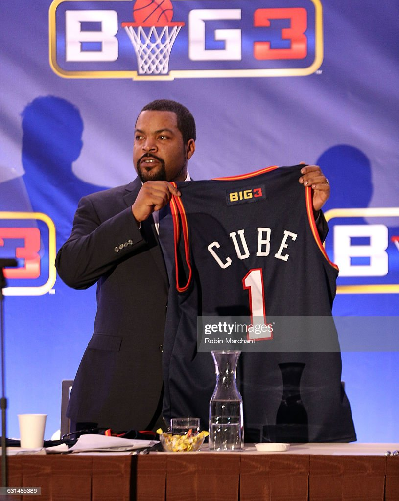 Ice Cube attends BIG3 Press Conference on January 11, 2017 in New York City.