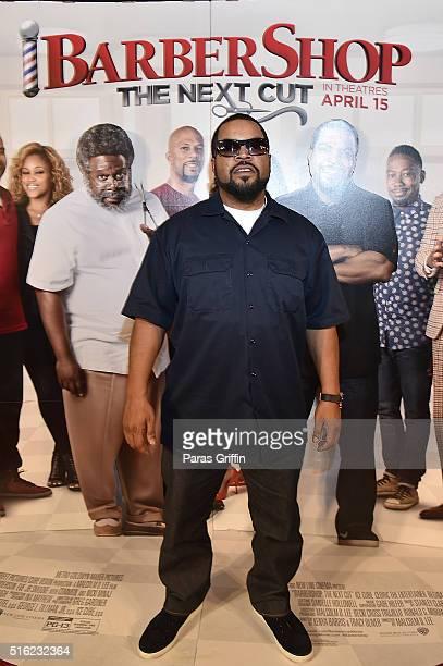Ice Cube attends the Barbershop THE NEXT CUT Atlanta VIP Screening at Regal Atlantic Station on March 17 2016 in Atlanta Georgia