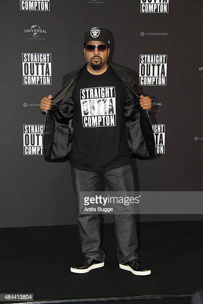 Ice Cube attends the 'Straight Outta Compton' European Premiere at CineStar on August 18 2015 in Berlin Germany