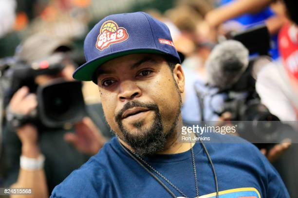 Ice Cube attends week six of the BIG3 three on three basketball league at American Airlines Center on July 30 2017 in Dallas Texas