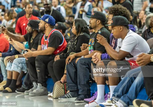 Ice Cube BIG3 League CoFounder and rapper/actor enjoying the show by Dope ERA before game 3 in week three of the BIG3 3on3 basketball league on...