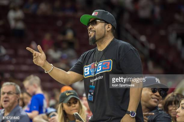Ice Cube during a BIG3 Basketball league game on July 16 2017 at Wells Fargo Center in Philadelphia PA