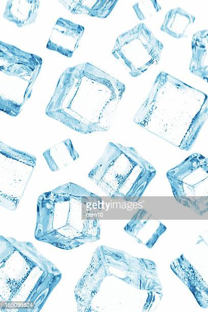 ice cube falling on the sky - ice cube stock photos and pictures