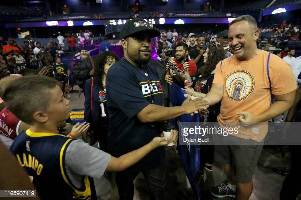 Ice Cube greets fans during week seven of the BIG3 three on three basketball league at Allstate Arena on August 03, 2019 in Chicago, Illinois.