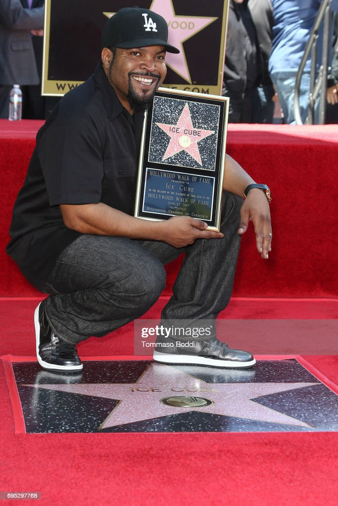 Ice Cube Honored With Star On The Hollywood Walk Of Fame on June 12, 2017 in Hollywood, California.
