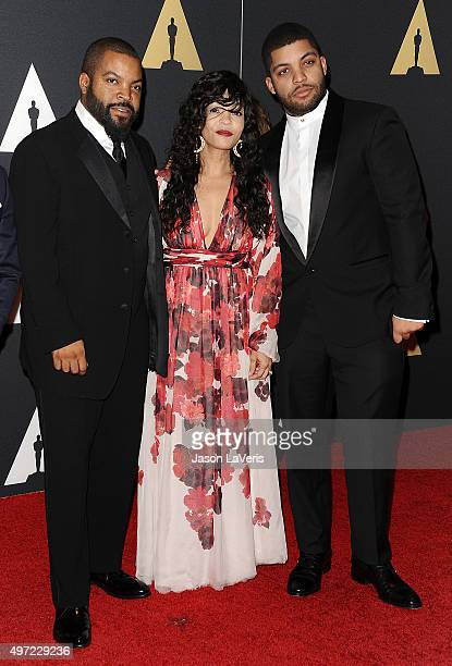 Ice Cube Kimberly Woodruff and O'Shea Jackson Jr attend the 7th annual Governors Awards at The Ray Dolby Ballroom at Hollywood Highland Center on...