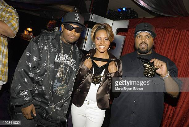 Ice Cube, Lil Easy-E and Mc Lyte during 2006 VH1 Hip Hop Honors - Red Carpet at Hammerstein Ballroom in New York City, New York, United States.