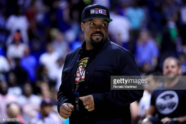 Ice Cube looks on during week three of the BIG3 three on three basketball league at BOK Center on July 9 2017 in Tulsa Oklahoma