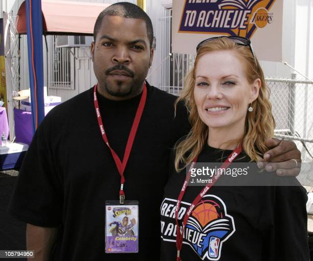 Ice Cube Marg Helgenberger during Shaqtacular VIII at Barker Hangar in Santa Monica California United States