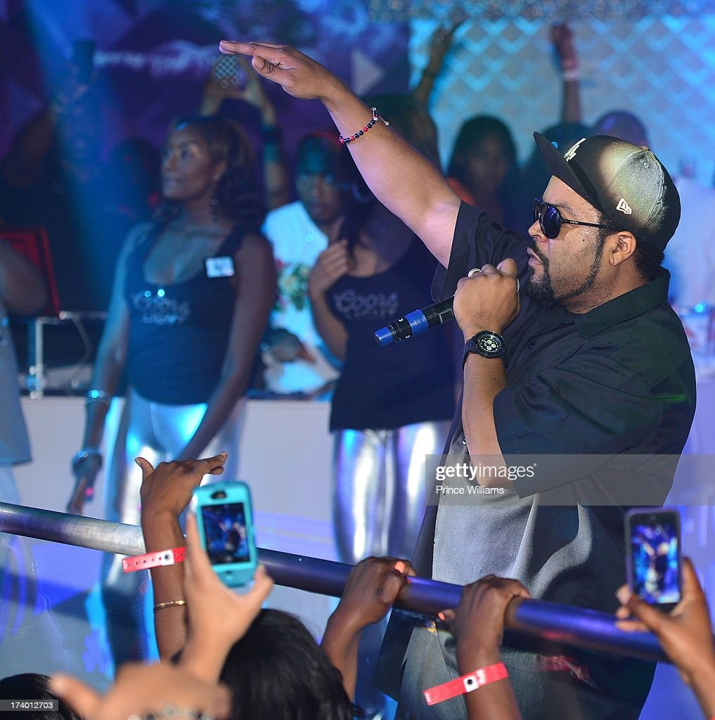 Ice Cube performs at Coors Light 'Search For The Coldest' MC With Special Guest Big Sean at Prive on July 18, 2013 in Atlanta, Georgia.