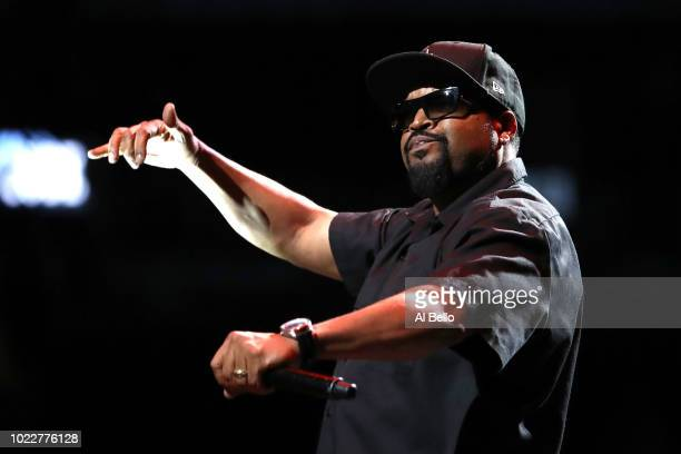 Ice Cube performs during the BIG3 Championship at the Barclays Center on August 24 2018 in Brooklyn New York