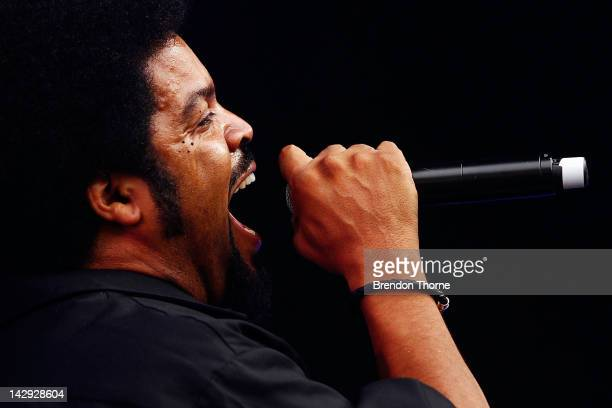 Ice Cube performs live on stage during Supafest 2012 at ANZ Stadium on April 15 2012 in Sydney Australia