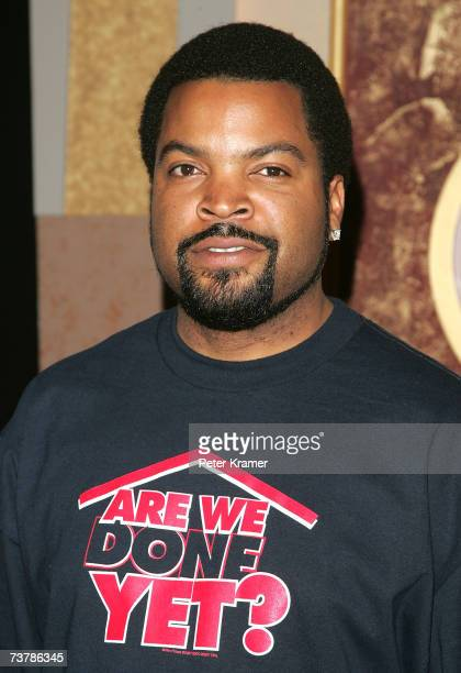 Ice Cube poses at a promotional event for his new movie 'Are We Done Yet' at the Apollo Theater April 3 2007 in New York City