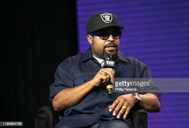 Ice Cube speaks onstage during the REVOLT X ATT Host REVOLT Summit In Los Angeles at Magic Box on October 27 2019 in Los Angeles California