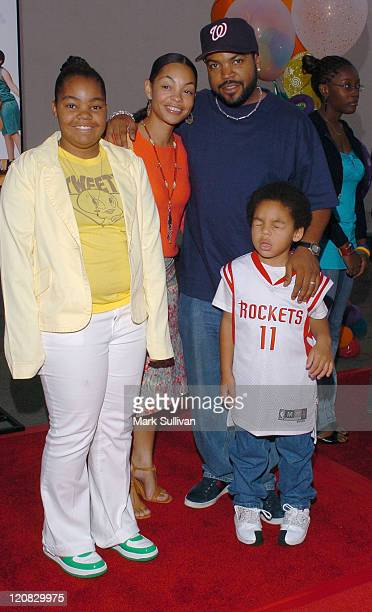 Ice Cube with wife Kimberly and family during Rebound Los Angeles Special Screening at Zanuck Theater / 20th Century Fox lot in Los Angeles...