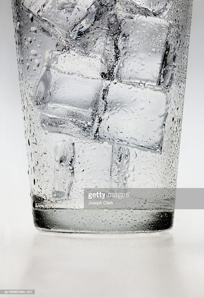 Ice cubes in glass : Foto stock