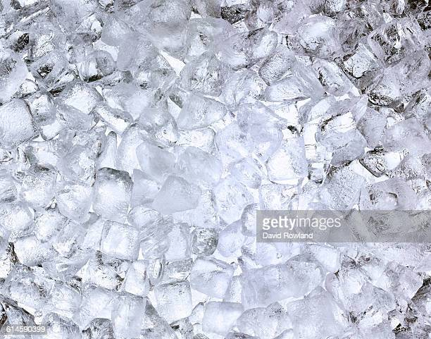 Ice cubes lit from behind