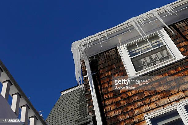 Ice dams on the roof of Chris McCormack's Melrose Mass home caused leakages throughout the house including in the bedroom bathroom kitchen and the...