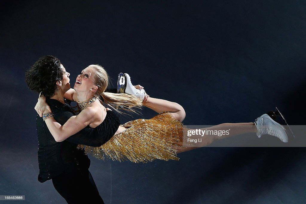 Ice dance bronze medalists Kaitlyn Weaver and Andrew Poje of Canada perform during Cup of China ISU Grand Prix of Figure Skating 2012 at the Oriental Sports Center on November 4, 2012 in Shanghai, China.