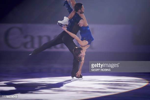 Ice Dance bronze medalists Lilah Fear and Lewis Gibson of Great Britain perform during the exhibition gala at the 2019 Skate Canada International ISU...