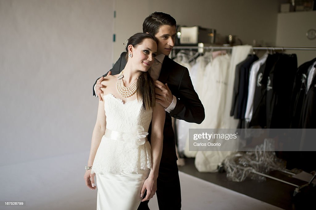 Ice Dance duo, Tessa Virtue and Scott Moir, are seen during a photo shoot for Today's Bride magazine.