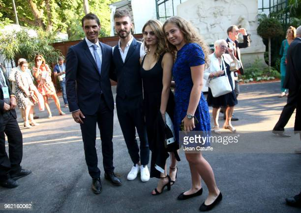 Ice dance skating French champions Guillaume Cizeron and Gabriella Papadakis between winners of 2017 French Open Rafael Nadal of Spain and Jelena...