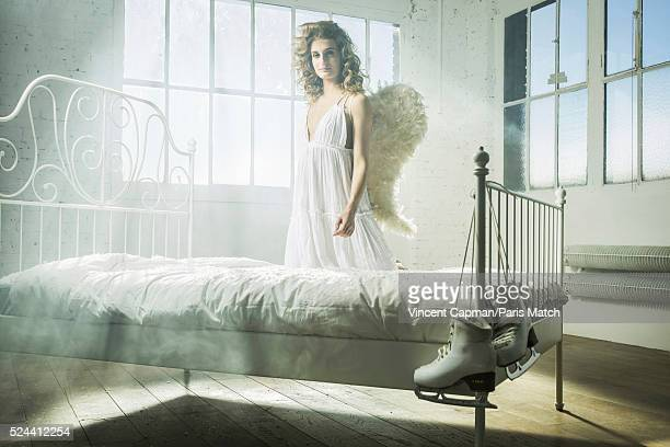 Ice dancer Gabriella Papadakis is photographed for Paris Match on April 7 2016 in Paris France