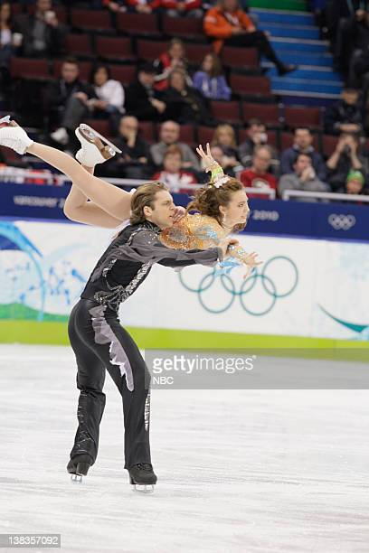 Ice Dancing - Free Skate -- Pictured: Georgia's Allison Reed and Otar Japaridze perform their free dance during the ice dance figure skating...