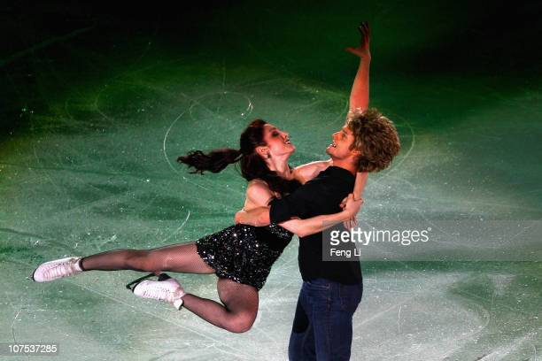 Ice dancing gold medalists Meryl Davis and Charlie White of USA perform during ISU Grand Prix and Junior Grand Prix Final at Beijing Capital...