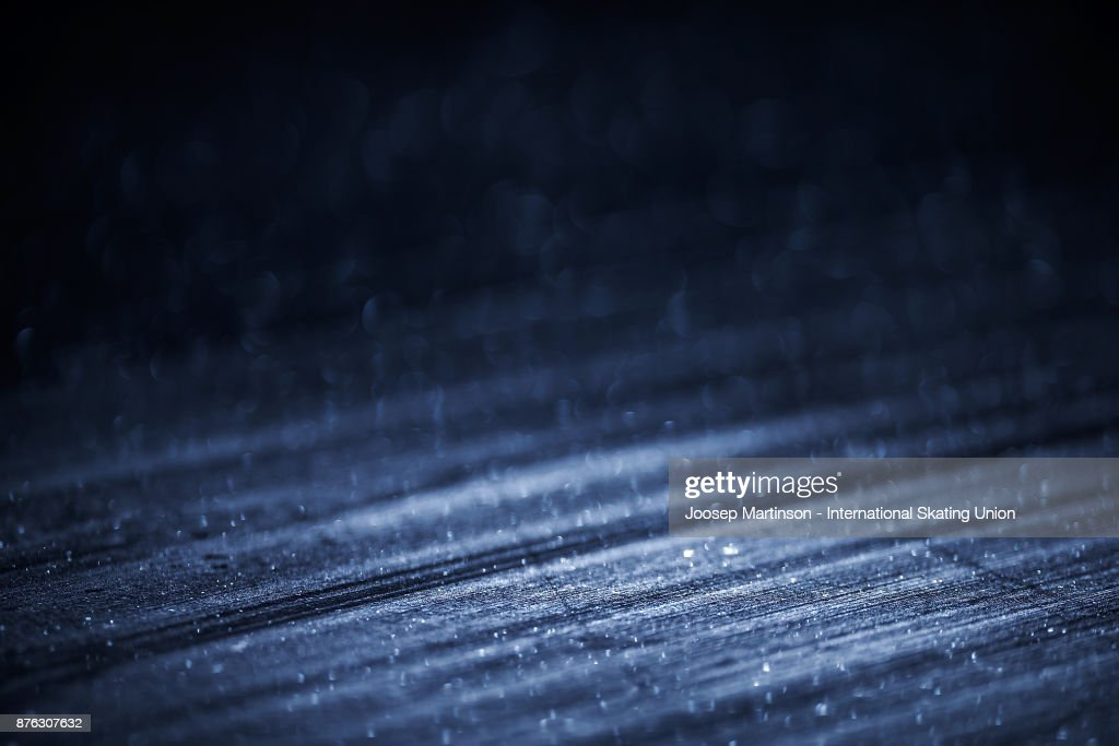 Ice detail during day three of the ISU Grand Prix of Figure Skating at Polesud Ice Skating Rink on November 19, 2017 in Grenoble, France.