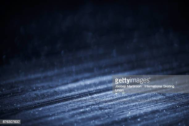 Ice detail during day three of the ISU Grand Prix of Figure Skating at Polesud Ice Skating Rink on November 19 2017 in Grenoble France