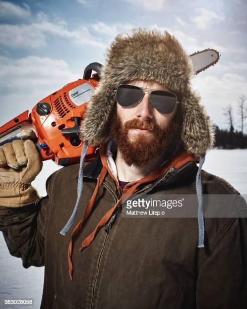 ice fishing - ottawa stock-fotos und bilder
