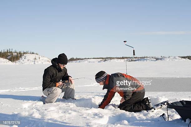 Ice Fishing, Yellowknife.