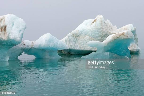 Ice floe at Monacobreen glacier, Liefdefjorden Fjord, Svalbard, Artic Ocean