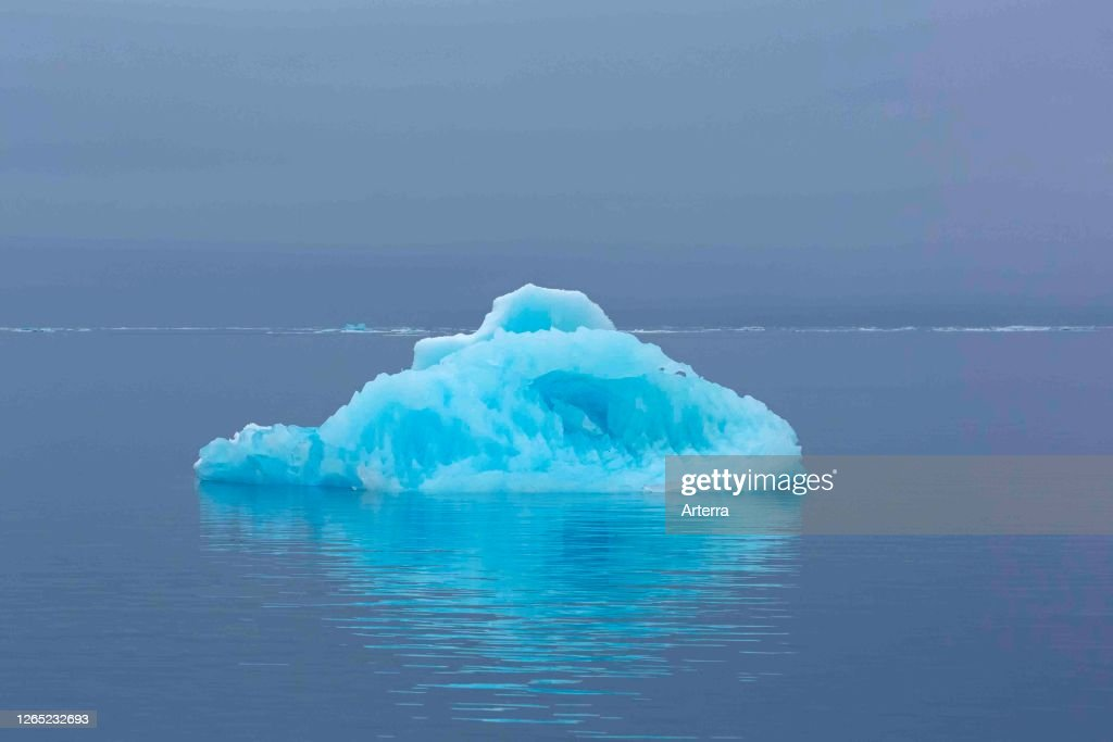 Ice floe drifting in the Hinlopenstretet. : News Photo
