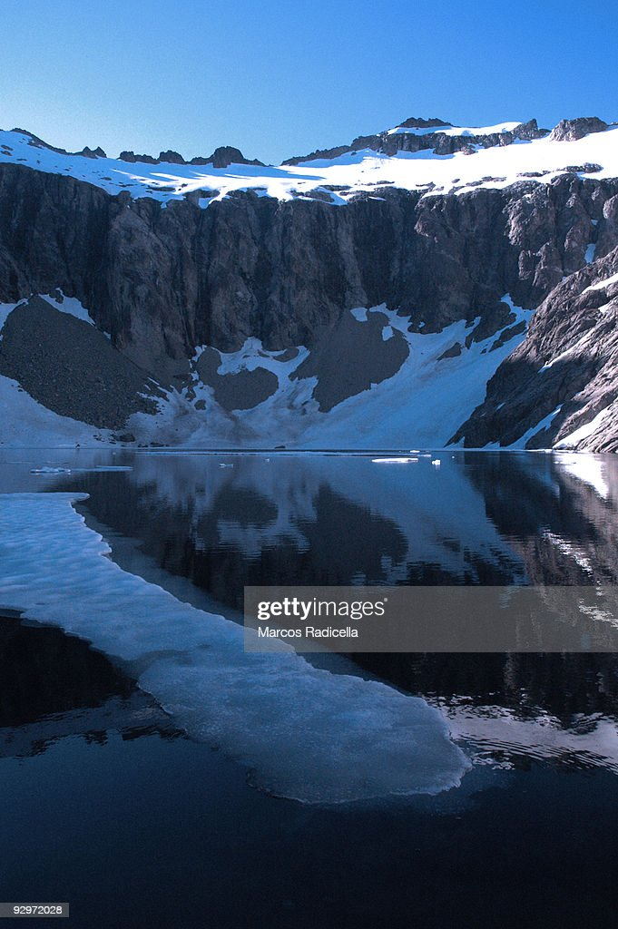 Ice floe in lagoon in Patagonia : Stock Photo