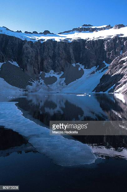 ice floe in lagoon in patagonia - radicella stock pictures, royalty-free photos & images