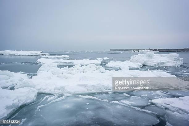 ice floe of utoro - drift ice stock pictures, royalty-free photos & images