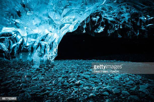 Ice Formation In Cave At Skaftafell