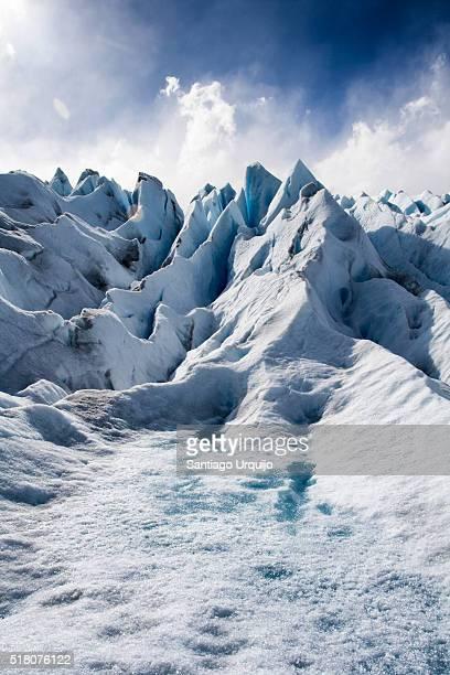 Ice formations in Perito Moreno Glacier