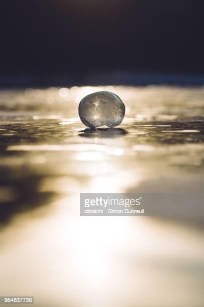 Ice globe on Lake Baikal