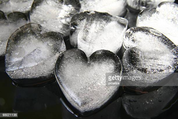 ice hearts - heart month stock photos and pictures