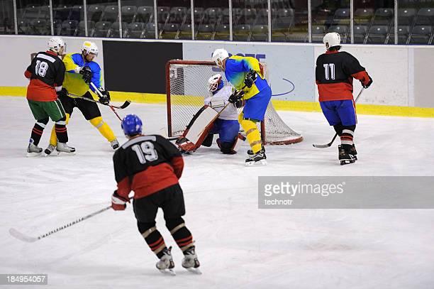 Ice hockey attack action