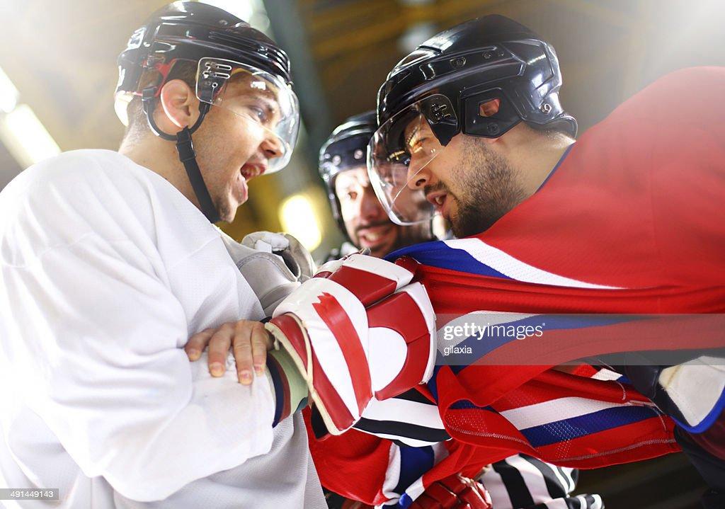 Ice hockey fight. : Stock Photo