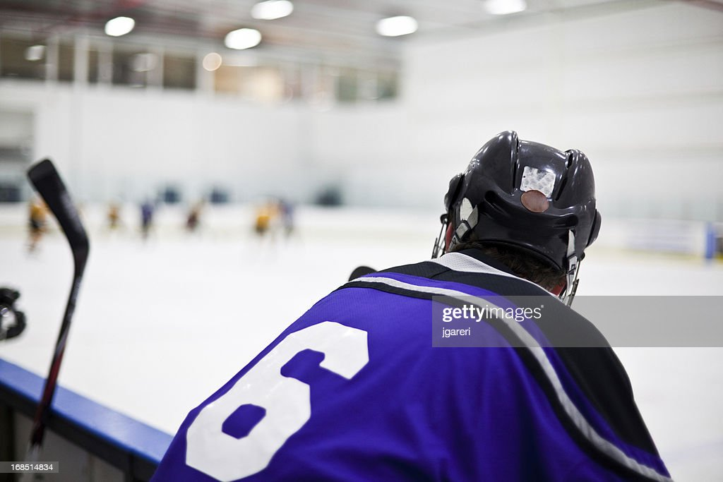 Ice hockey game action shot : Stock Photo